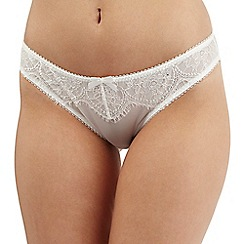 Gorgeous DD+ - Ivory lace diamante bikini briefs
