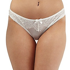 Gorgeous DD+ - Ivory lace diamante thong