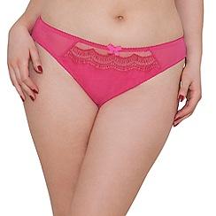 Curvy Kate - Pink mesh 'Cabaret' midi knickers