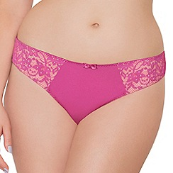 Curvy Kate - Pink 'Vixen' Brazilian brief