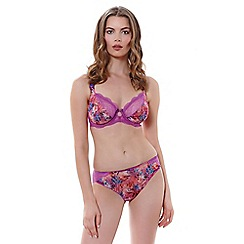 Freya - Purple 'Wildfire' plunge GG+ bra