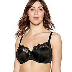 Gorgeous DD+ - Black lace underwired non-padded DD+ full cup bra