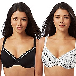 Gorgeous DD+ - 2 pack underwired padded D+ t-shirt bras