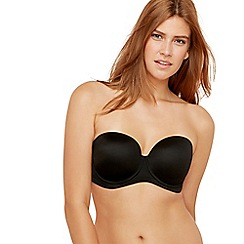 Gorgeous DD+ - Black underwired moulded cups multi-way bra