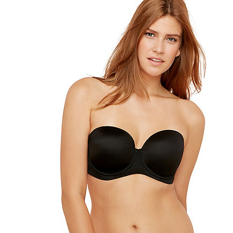 Gorgeous DD+ - Black moulded multiway bra
