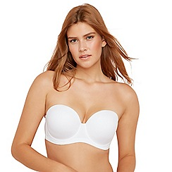 Gorgeous DD+ - White underwired moulded cups D+ multi-way bra