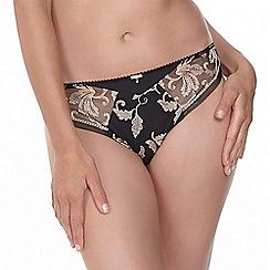 Fantasie - Black 'Sofia' embroidered bikini brief
