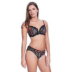 Freya - Black 'Paradise' plunge bra