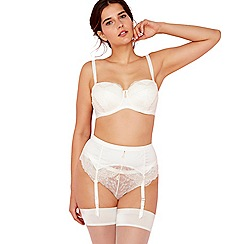 Charnos - Ivory jacquard 'Bailey' underwired moulded cups strapless bra
