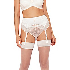 Charnos - Ivory 'Bailey' bridal suspender belt