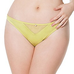 Scantilly by Curvy Kate - Lime green 'Peek A Boo' thong