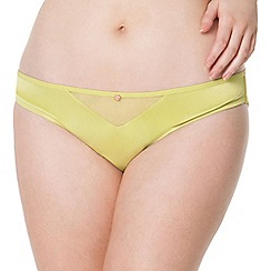 Scantilly by Curvy Kate - Lime green 'Peek A Boo' brief