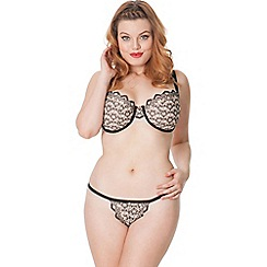Scantilly by Curvy Kate - Nude 'Fixate' balcony bra