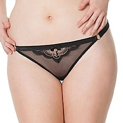 Scantilly by Curvy Kate - Black 'Surrender' thong