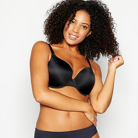 Gorgeous DD+ - Black soft comfort t-shirt bra