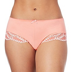 Gorgeous DD+ - Pale orange lace trim 'Oceana' bikini knickers