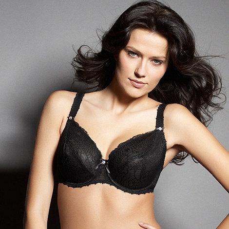 Freya - Black fuller bust +Jolie+ balcony plunge bra