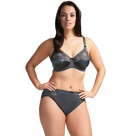 Elomi - Online exclusive dark grey +caitlyn+ side support full cup bra