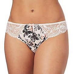 Gorgeous DD+ - Light pink floral print lace Brazilian knickers