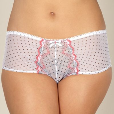 White spotted mesh shorts