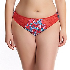Elomi - Red 'Morgan' midi knickers