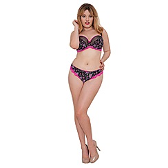 Curvy Kate - Black 'Vegas' underwired non-padded E+ balcony bra