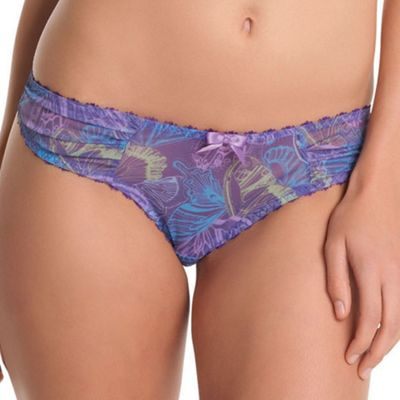 Lilac Untamed butterfly thong