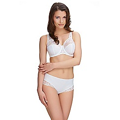 Fantasie - White 'Grace' embroidered full cup bra