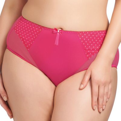 Online exclusive pink polka dot print brief