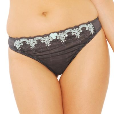 Dark grey Romance thong