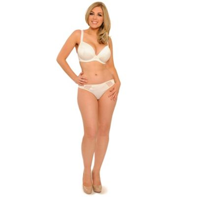 Cream Desire multi way plunge bra