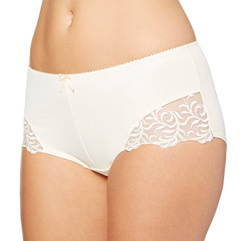 Gorgeous DD+ - Ivory embroidered mesh bridal shorts