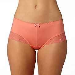 Gorgeous DD+ - Orange floral lace shorts