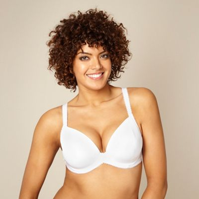 White padded three-section t-shirt bra