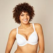 White padded three-section t-shirt bra