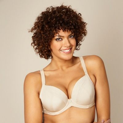 Natural padded three-section t-shirt bra