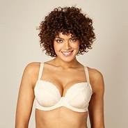 Natural non padded three-section t-shirt bra