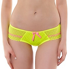 Freya - Bright yellow 'Pulse' midi knickers