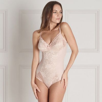 Natural non wired lace body shaper