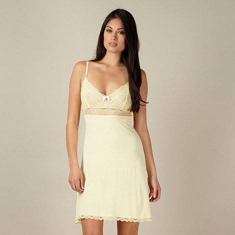 J by Jasper Conran - Designer light yellow lace top chemise