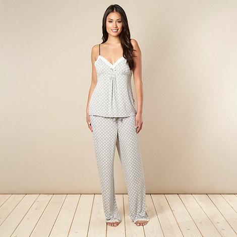 J by Jasper Conran - Designer grey floral jersey pyjama set