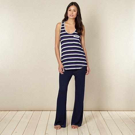 J by Jasper Conran - Designer navy vest pyjama set