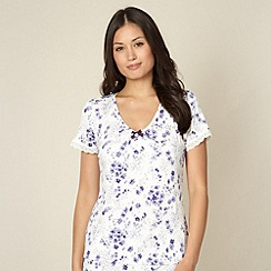 J by Jasper Conran - Designer cream floral jersey pyjama top