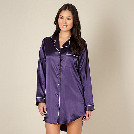 J by Jasper Conran - Designer dark purple satin nightshirt