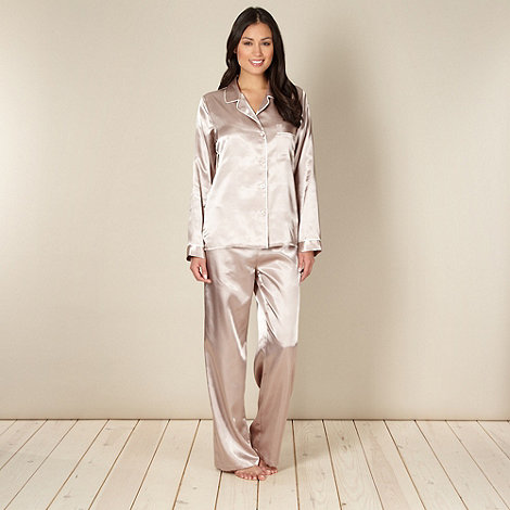 J by Jasper Conran - Designer gold satin pyjama set