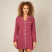 Designer dark red spotted jersey nightshirt