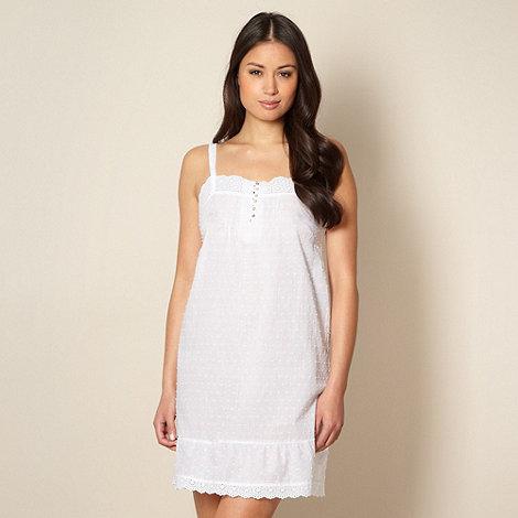 RJR.John Rocha - Designer white woven chemise