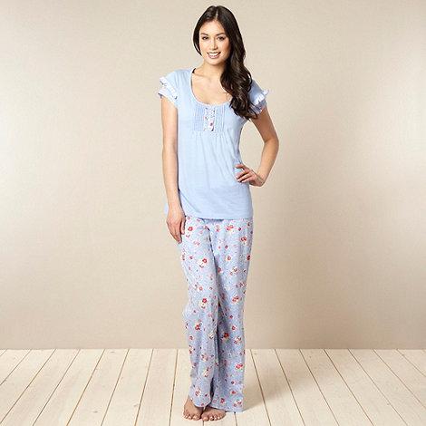 RJR.John Rocha - Designer blue flower print pyjama set