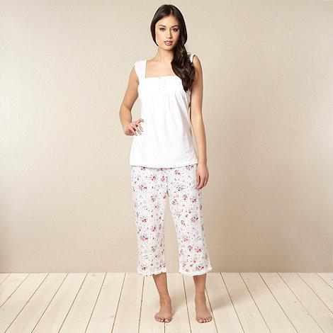 RJR.John Rocha - Designer white flower print pyjama set