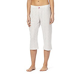 Lounge & Sleep - White spotted print pyjama bottoms